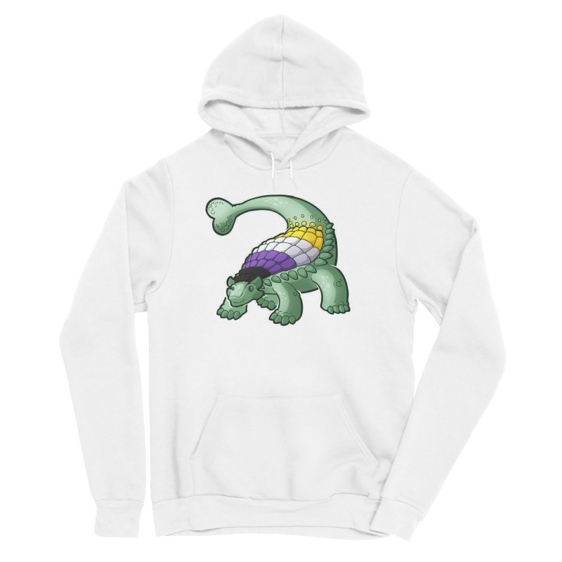 ENBYlosaurus Women's Sponge Fleece Pullover Hoody by Marty's Artist Shop