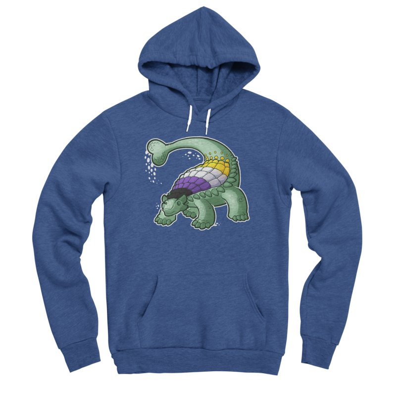 ENBYlosaurus Women's Sponge Fleece Pullover Hoody by Marty's Artist Shop