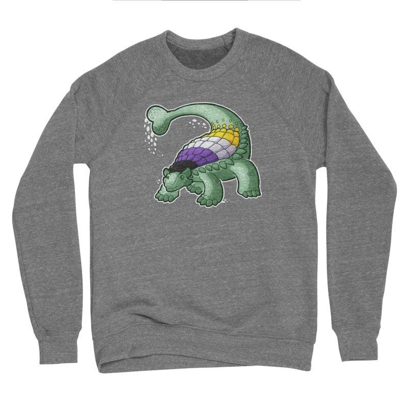 ENBYlosaurus Men's Sponge Fleece Sweatshirt by Marty's Artist Shop