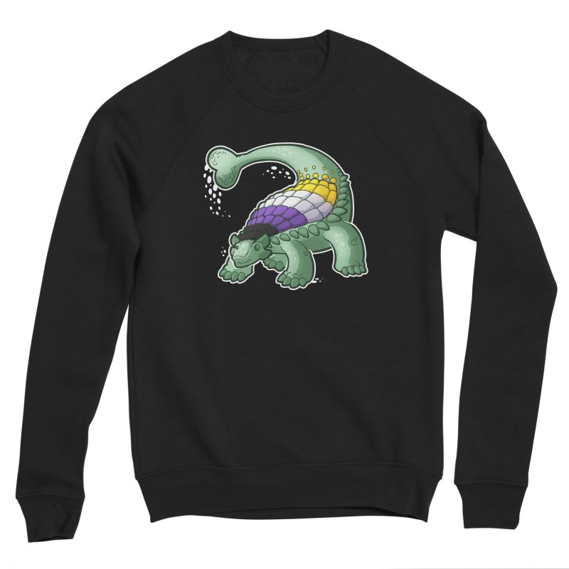 ENBYlosaurus Women's Sponge Fleece Sweatshirt by Marty's Artist Shop
