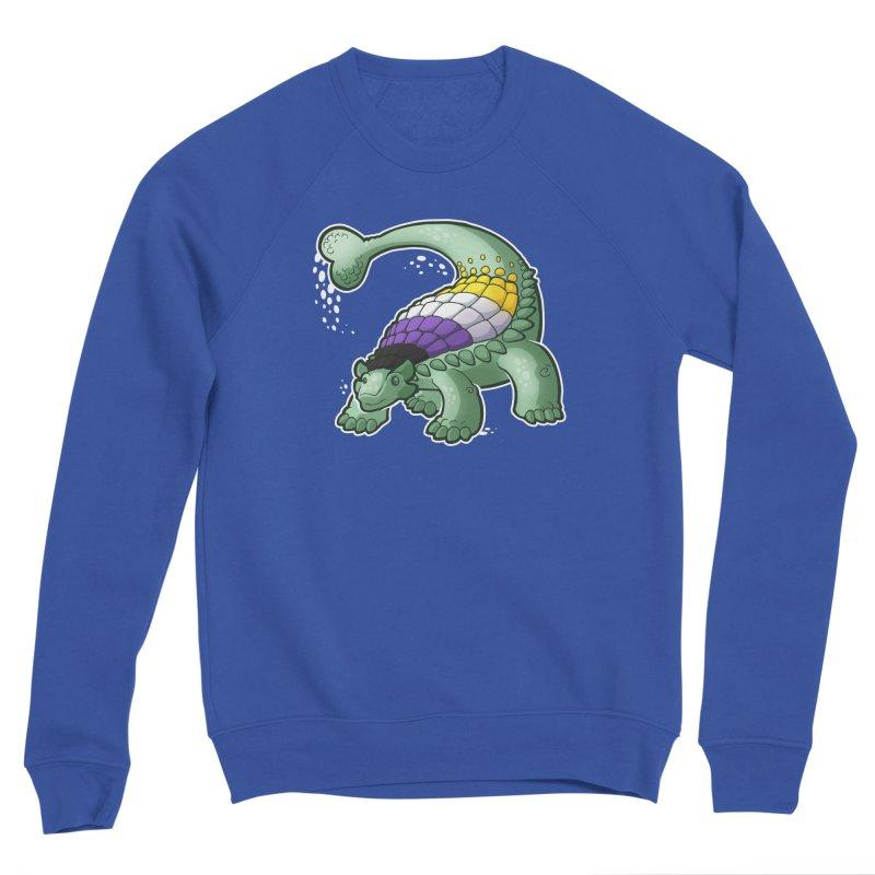 ENBYlosaurus Women's Sponge Fleece Sweatshirt by Marty's Artist Shop