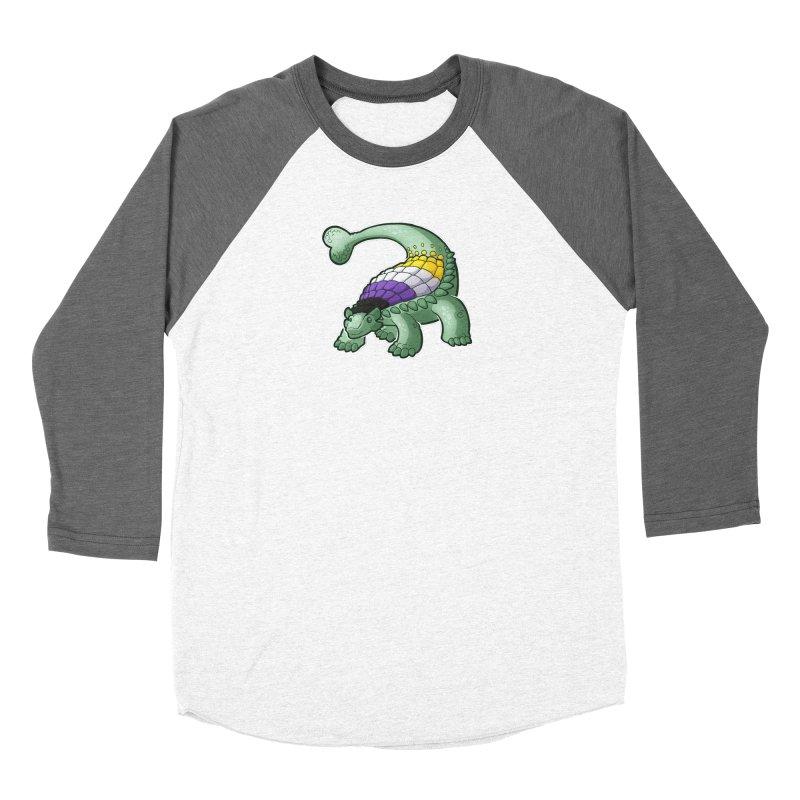 ENBYlosaurus Women's Longsleeve T-Shirt by Marty's Artist Shop
