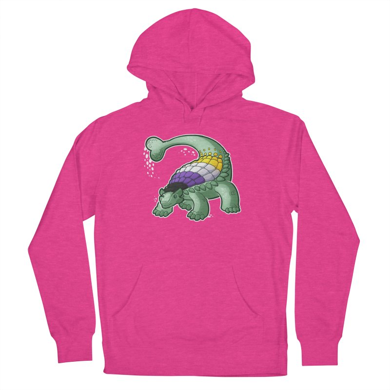 ENBYlosaurus Women's French Terry Pullover Hoody by Marty's Artist Shop