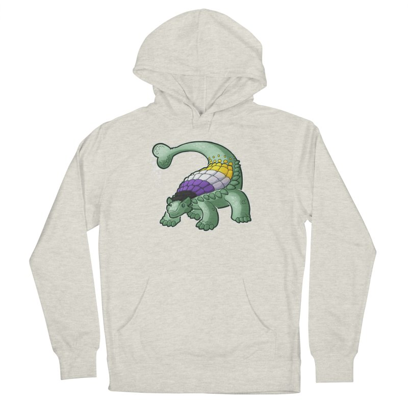 ENBYlosaurus Men's French Terry Pullover Hoody by Marty's Artist Shop