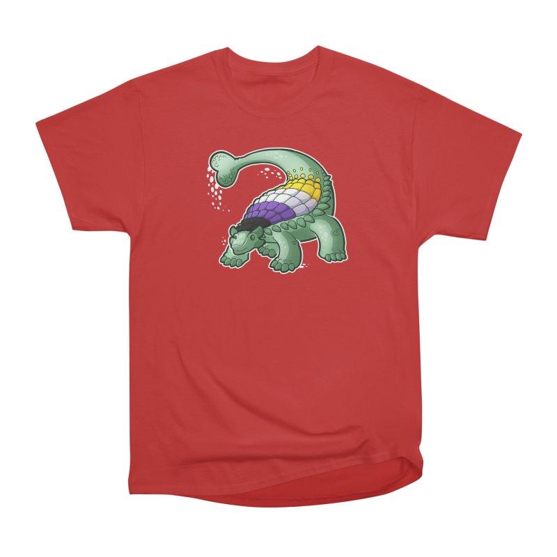 ENBYlosaurus Men's Heavyweight T-Shirt by Marty's Artist Shop