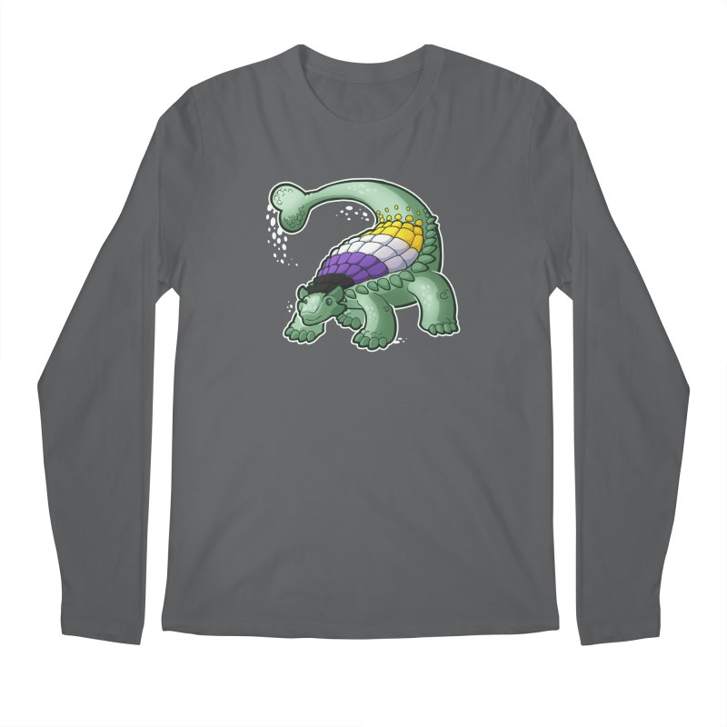 ENBYlosaurus Men's Longsleeve T-Shirt by Marty's Artist Shop