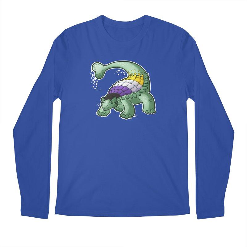 ENBYlosaurus Men's Longsleeve T-Shirt by Marty's Artist Shop
