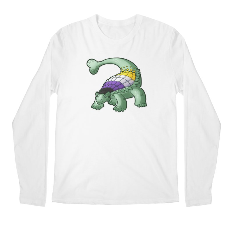 ENBYlosaurus Men's Regular Longsleeve T-Shirt by Marty's Artist Shop