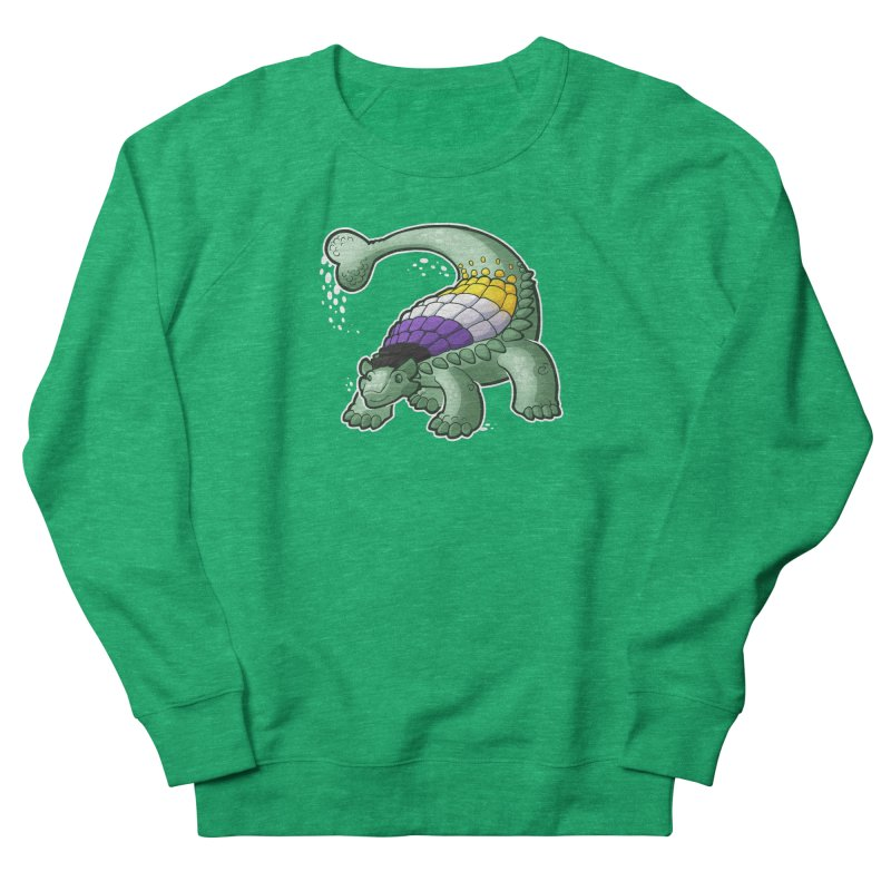 ENBYlosaurus Women's Sweatshirt by Marty's Artist Shop