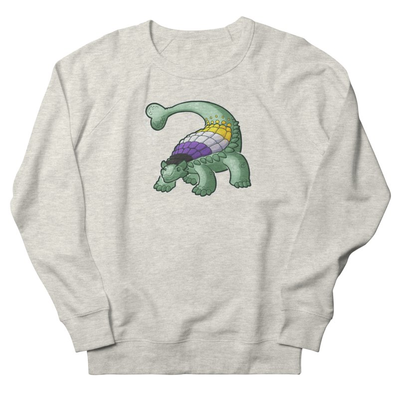 ENBYlosaurus Women's French Terry Sweatshirt by Marty's Artist Shop