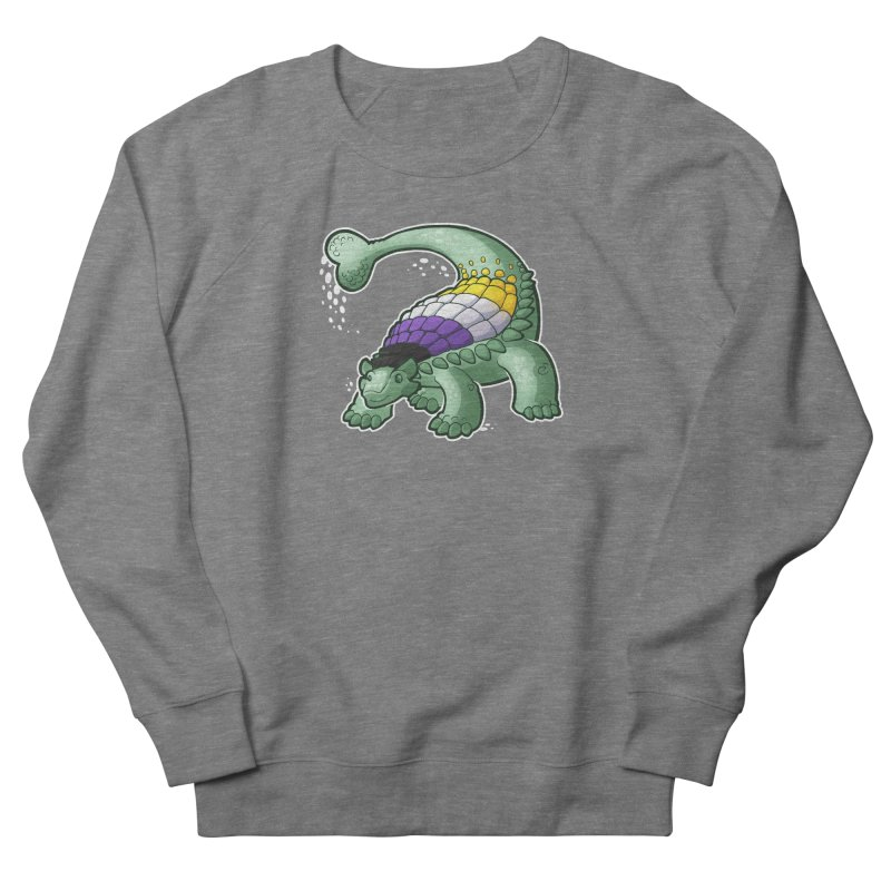 ENBYlosaurus Men's French Terry Sweatshirt by Marty's Artist Shop