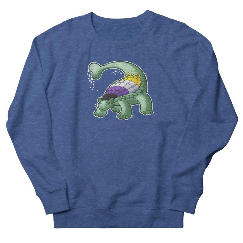 ENBYlosaurus Men's Sweatshirt by Marty's Artist Shop
