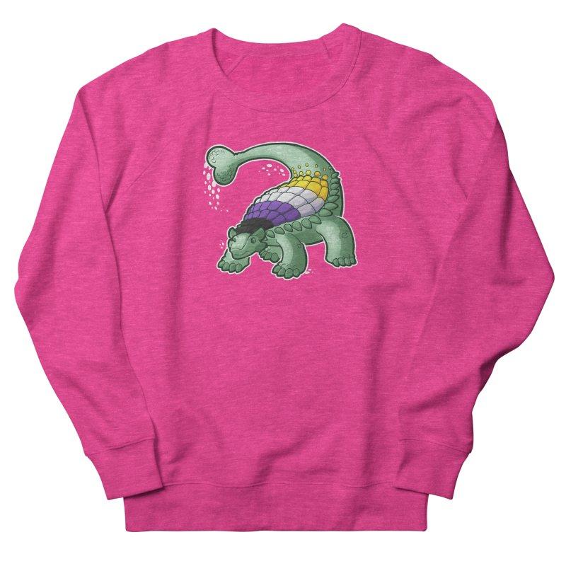 ENBYlosaurus Men's French Terry Sweatshirt by Marty's Artist Shop