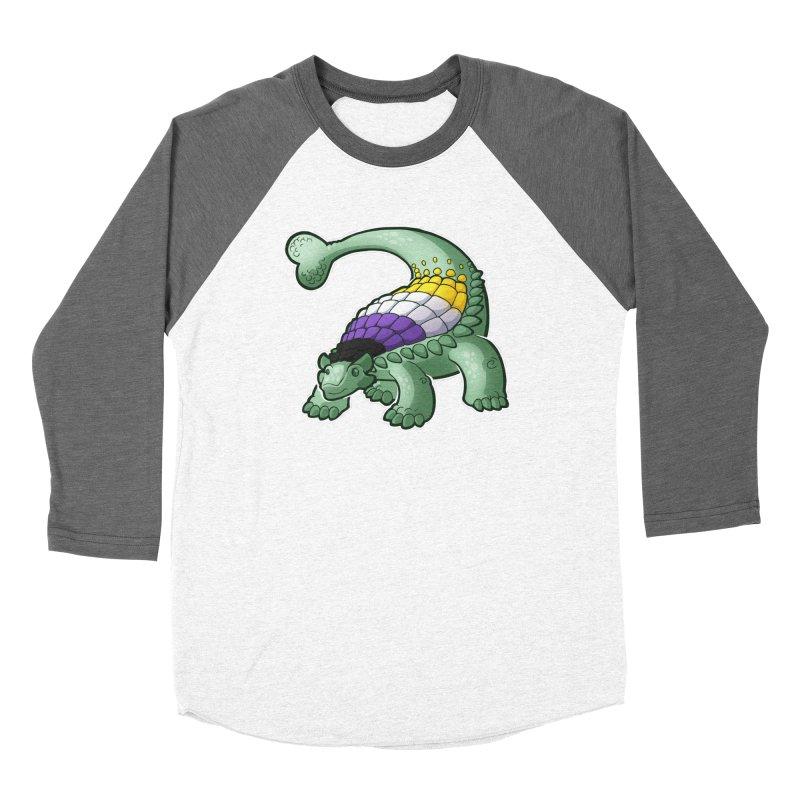 ENBYlosaurus Women's Baseball Triblend Longsleeve T-Shirt by Marty's Artist Shop