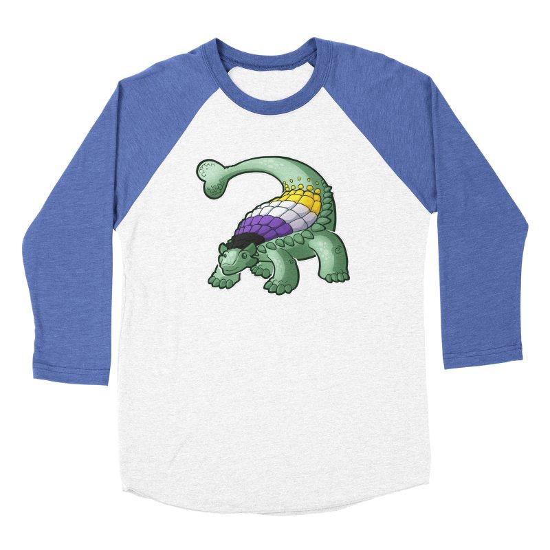 ENBYlosaurus Men's Baseball Triblend Longsleeve T-Shirt by Marty's Artist Shop