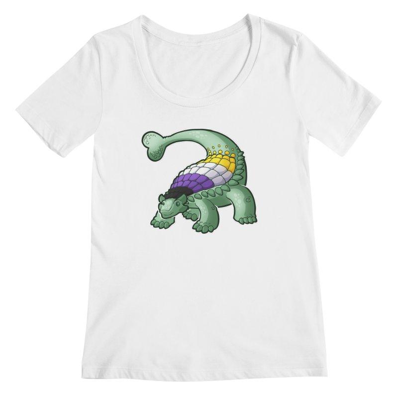 ENBYlosaurus Women's Regular Scoop Neck by Marty's Artist Shop