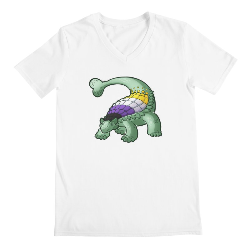 ENBYlosaurus Men's V-Neck by Marty's Artist Shop