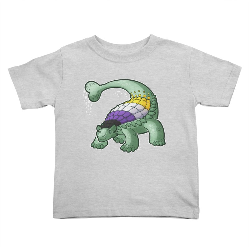 ENBYlosaurus Kids Toddler T-Shirt by Marty's Artist Shop