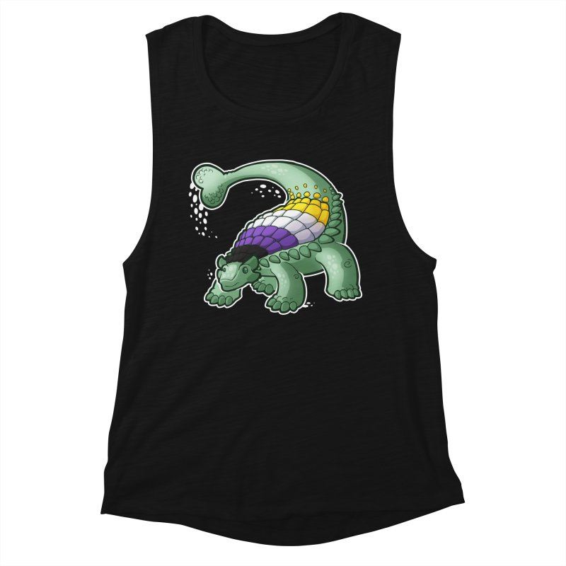 ENBYlosaurus Women's Tank by Marty's Artist Shop