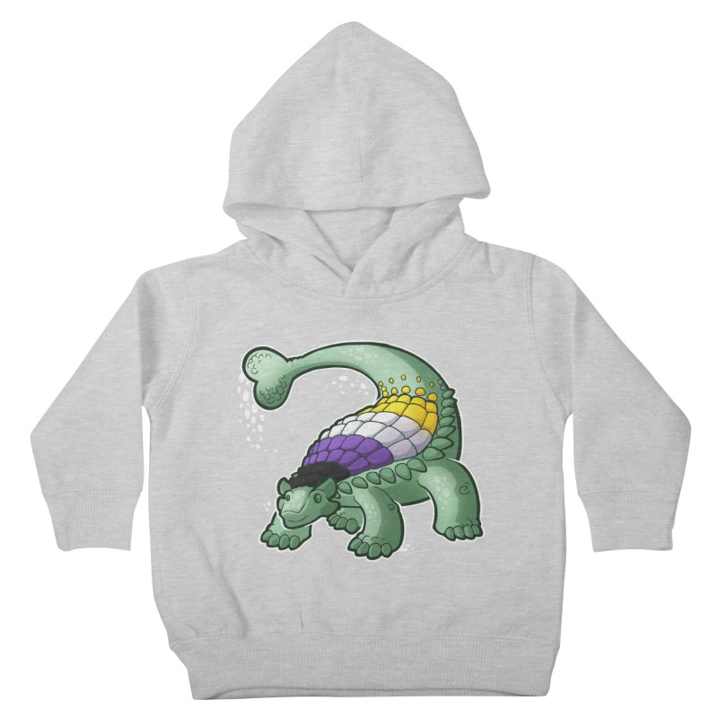 ENBYlosaurus Kids Toddler Pullover Hoody by Marty's Artist Shop