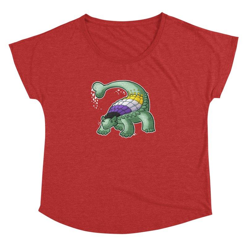 ENBYlosaurus Women's Dolman Scoop Neck by Marty's Artist Shop