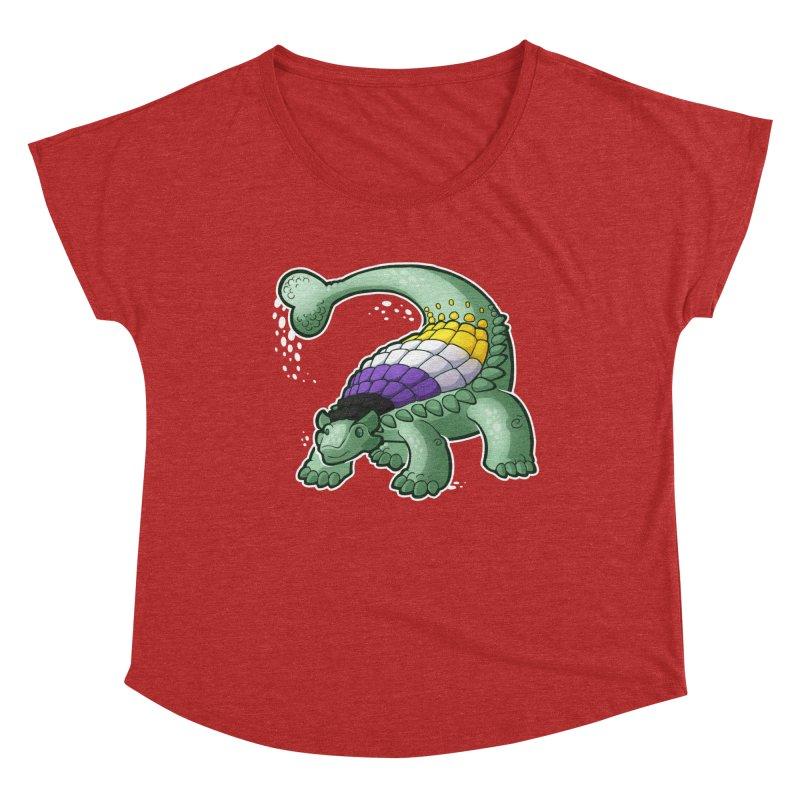 ENBYlosaurus Women's Scoop Neck by Marty's Artist Shop
