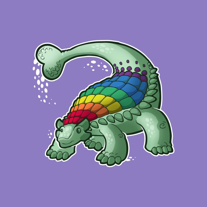 Ankylosaurus Pride Men's T-Shirt by Marty's Artist Shop