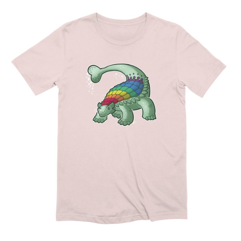 Ankylosaurus Pride Men's Extra Soft T-Shirt by Marty's Artist Shop