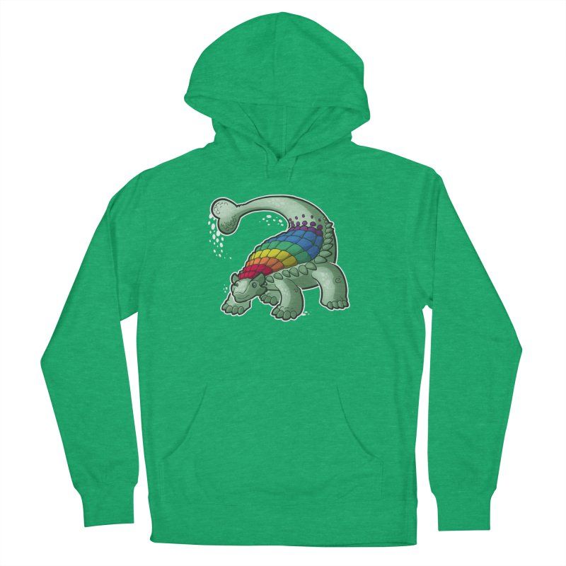 Ankylosaurus Pride Men's French Terry Pullover Hoody by Marty's Artist Shop