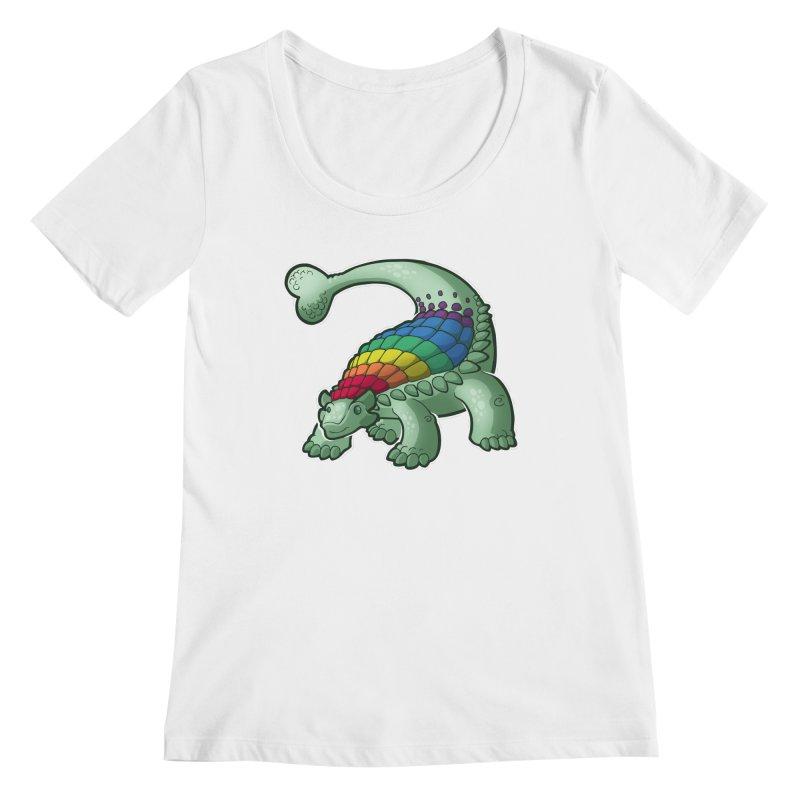 Ankylosaurus Pride Women's Regular Scoop Neck by Marty's Artist Shop