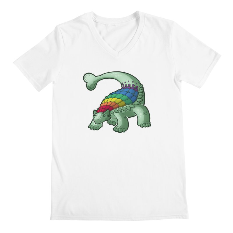 Ankylosaurus Pride Men's V-Neck by Marty's Artist Shop