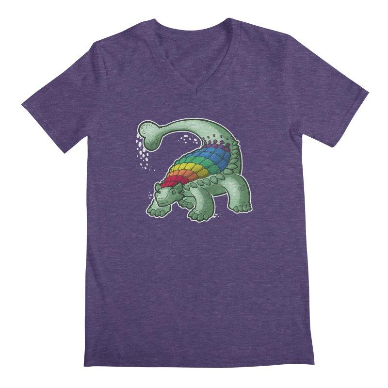 Ankylosaurus Pride Men's V-Neck by Marty's Artist Shop
