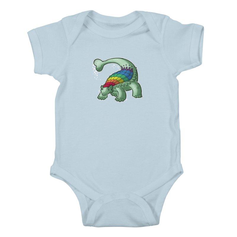 Ankylosaurus Pride Kids Baby Bodysuit by Marty's Artist Shop