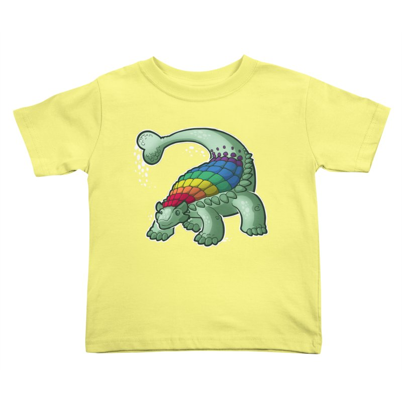 Ankylosaurus Pride Kids Toddler T-Shirt by Marty's Artist Shop