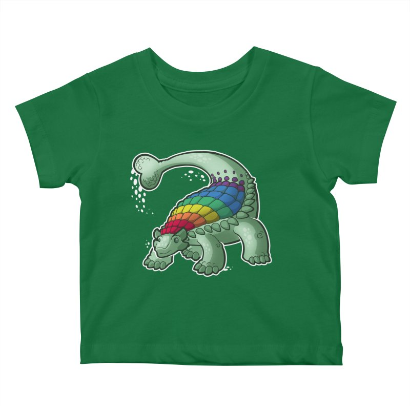 Ankylosaurus Pride Kids Baby T-Shirt by Marty's Artist Shop