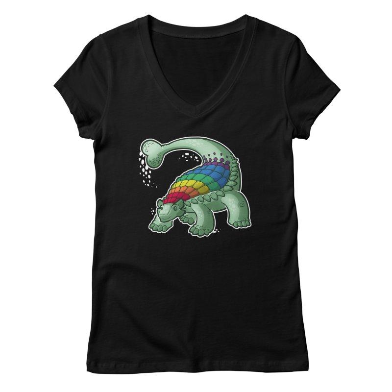 Ankylosaurus Pride Women's V-Neck by Marty's Artist Shop