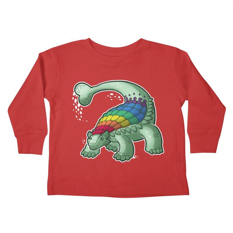 Ankylosaurus Pride Kids Toddler Longsleeve T-Shirt by Marty's Artist Shop