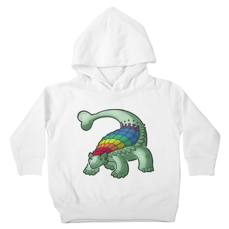 Ankylosaurus Pride Kids Toddler Pullover Hoody by Marty's Artist Shop