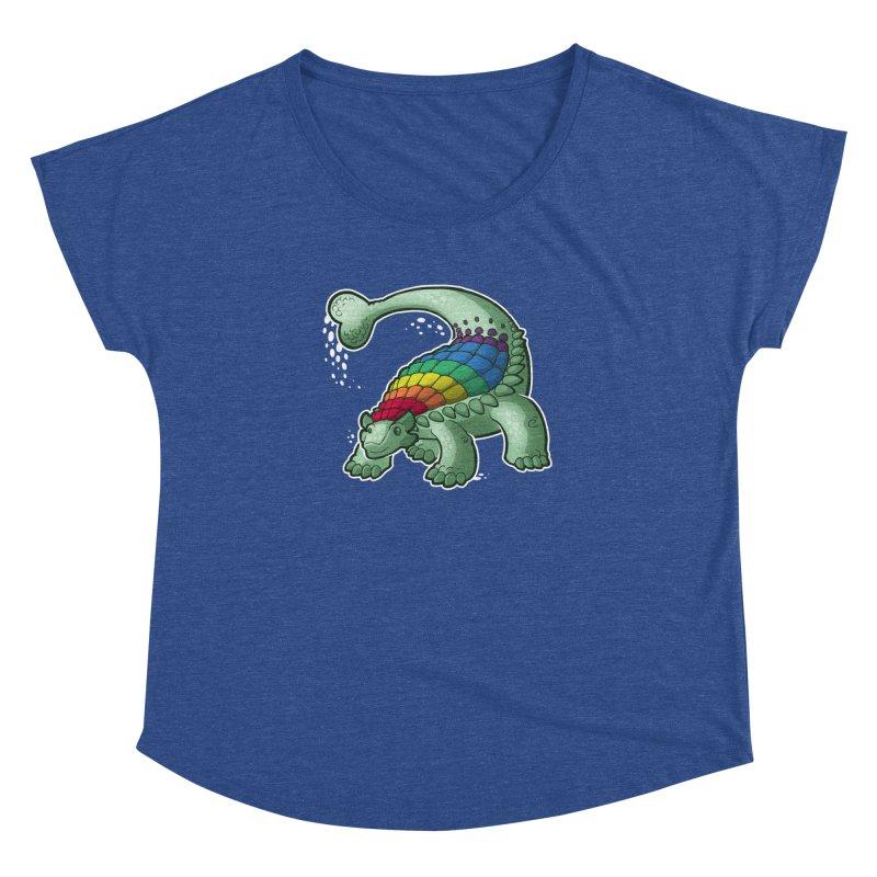 Ankylosaurus Pride Women's Dolman Scoop Neck by Marty's Artist Shop