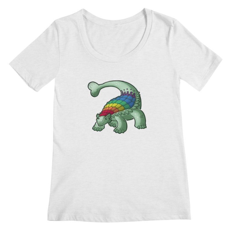 Ankylosaurus Pride Women's Regular Scoop Neck by Marty's Artist Shop