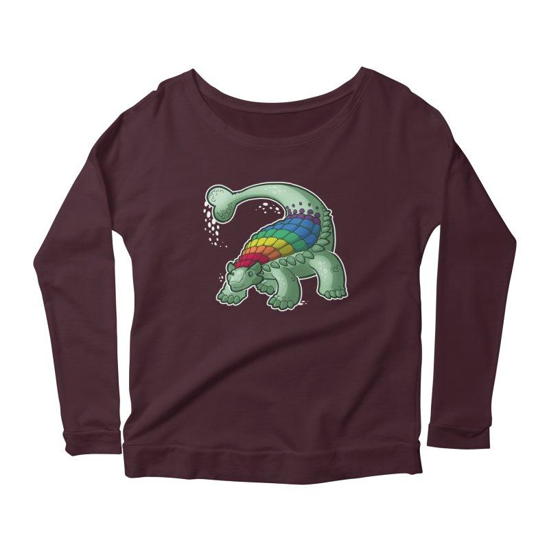 Ankylosaurus Pride Women's Scoop Neck Longsleeve T-Shirt by Marty's Artist Shop