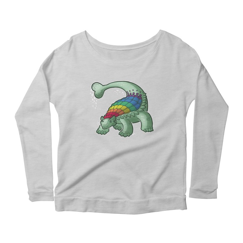 Ankylosaurus Pride Women's Scoop Neck Longsleeve T-Shirt by Marty's Artist Shop