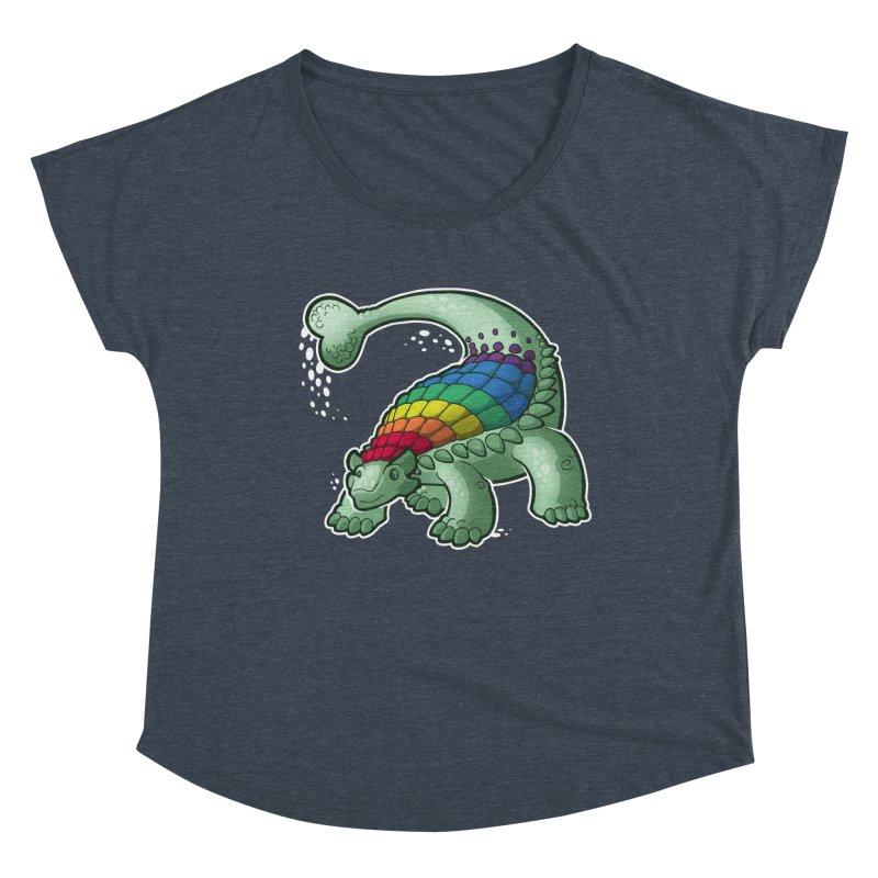 Ankylosaurus Pride Women's Scoop Neck by Marty's Artist Shop