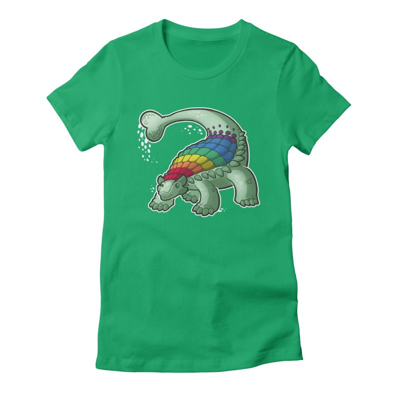 Ankylosaurus Pride Women's Fitted T-Shirt by Marty's Artist Shop