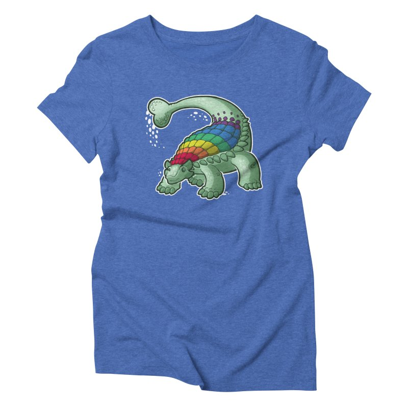 Ankylosaurus Pride Women's Triblend T-Shirt by Marty's Artist Shop