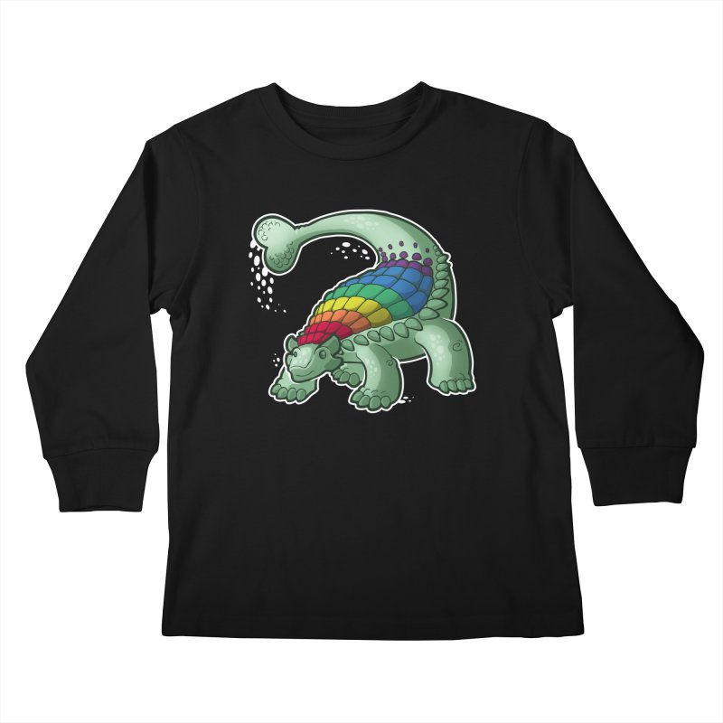 Ankylosaurus Pride Kids Longsleeve T-Shirt by Marty's Artist Shop