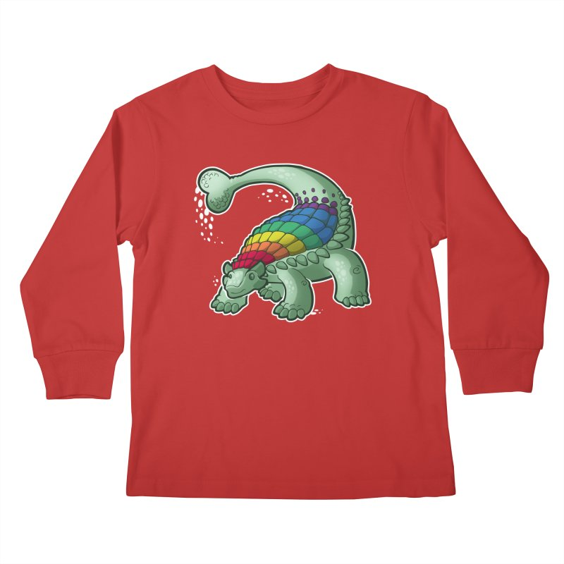 Ankylosaurus Pride Kids Longsleeve T-Shirt by Marty's Artist Shop