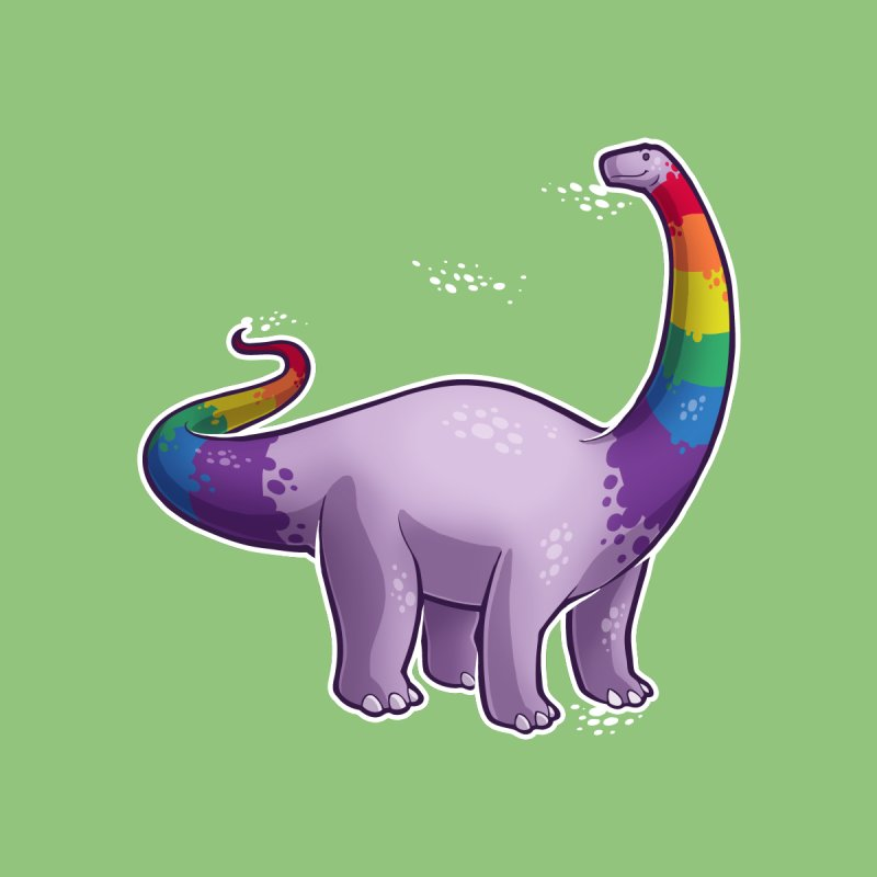 Brontosaurus Pride Kids Baby Bodysuit by Marty's Artist Shop