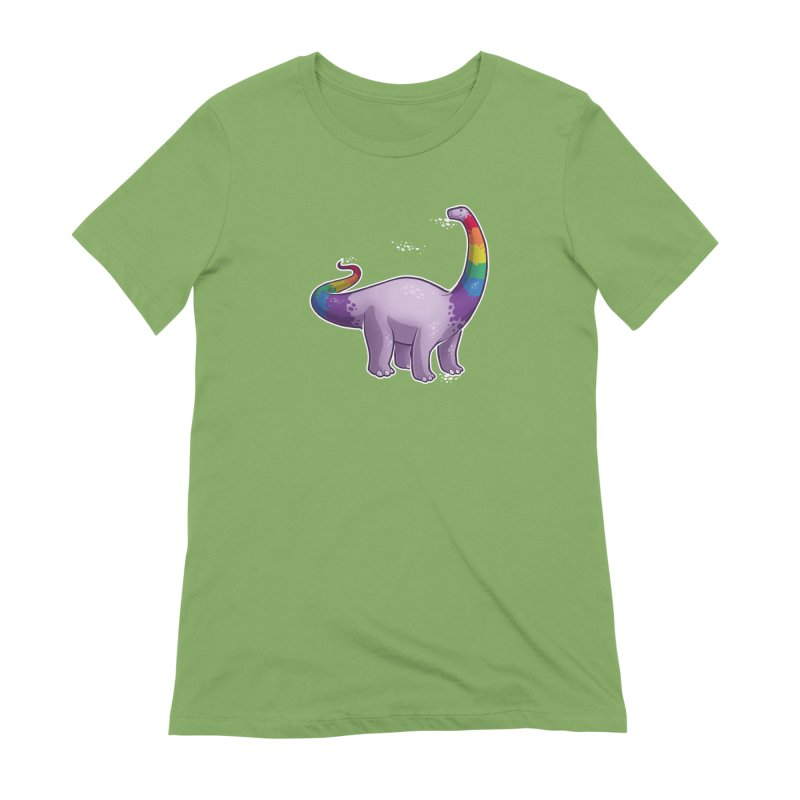 Brontosaurus Pride Women's Extra Soft T-Shirt by Marty's Artist Shop