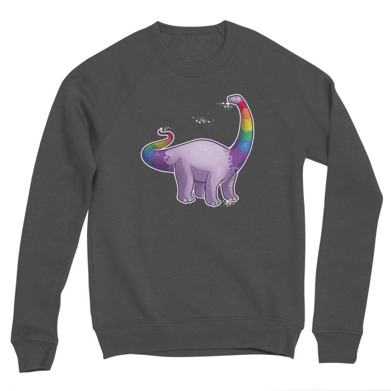 Brontosaurus Pride Men's Sponge Fleece Sweatshirt by Marty's Artist Shop
